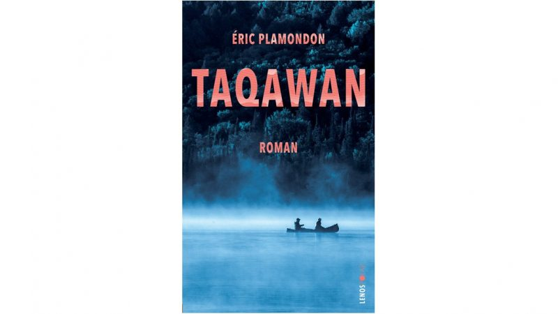 Taqawan Book cover showing two persons in a canoe on a foggy lake