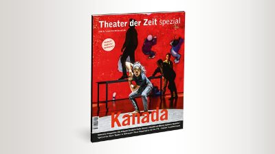 Magazine Cover showing theater artists in movement